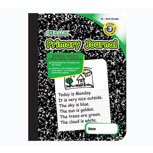 Bazic Primary Journal Marble Composition Book