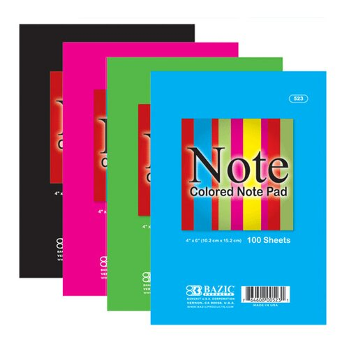 Bazic Colored Note Pads