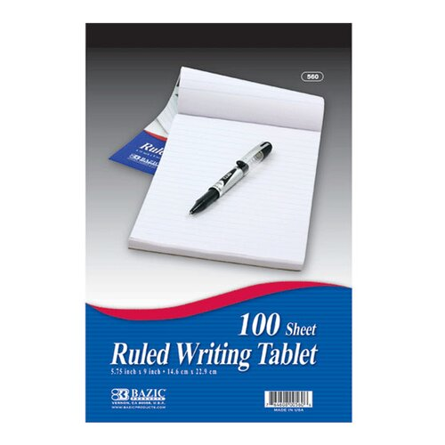 Bazic Ruled Writing Tablet
