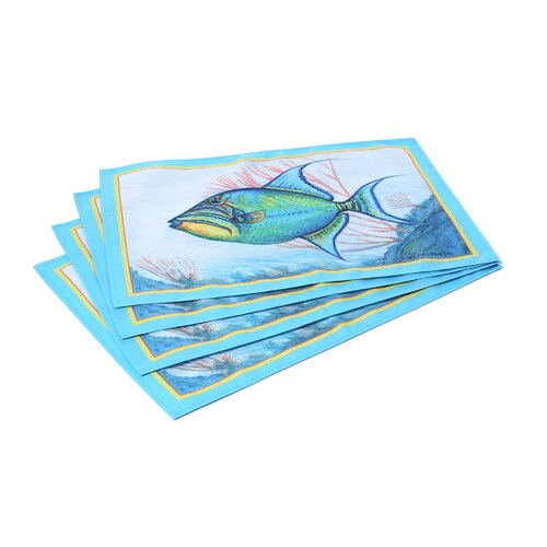 Trigger Fish Placemat (Set of 4)