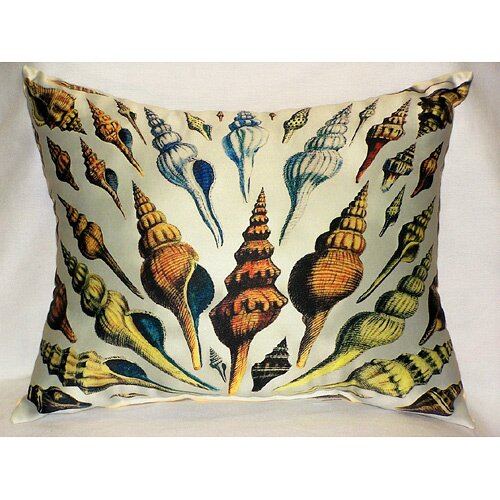 Betsy Drake Interiors Multi - Shells Print Pillow
