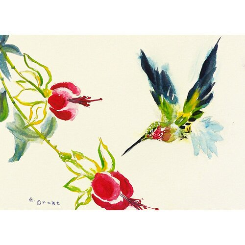 Betsy Drake Interiors Garden Hummingbird Outdoor Wall Hanging