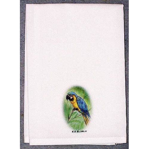 Coastal Blue Macaw Hand Towel