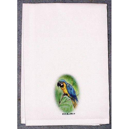Betsy Drake Interiors Coastal Blue Macaw Hand Towel