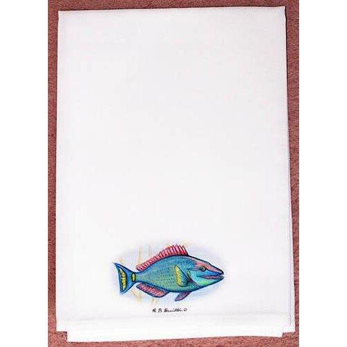 Betsy Drake Interiors Coastal Parrot Fish Hand Towel