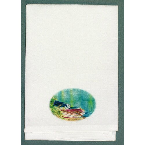 Coastal Row Boats Hand Towel