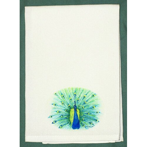 Betsy Drake Interiors Garden Peacock Hand Towel
