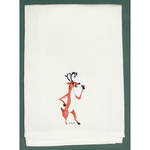 Holiday Drunk Deer Hand Towel