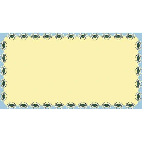 Betsy Drake Interiors Crab Rectangular Tablecloth