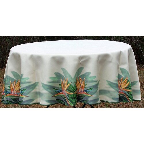 Betsy Drake Interiors Bird of Paradise Round Tablecloth