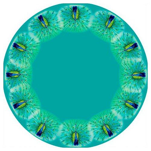 Betsy Drake Interiors Peacock Round Tablecloth