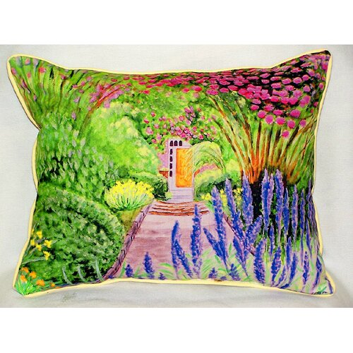 Betsy Drake Interiors Garden Door Indoor / Outdoor Pillow