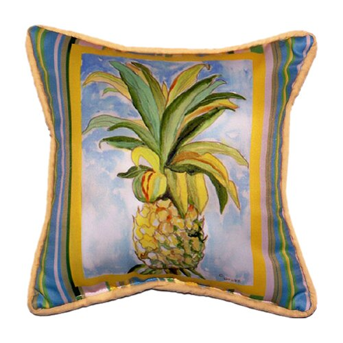 Betsy Drake Interiors Garden Pineapple Indoor / Outdoor Pillow