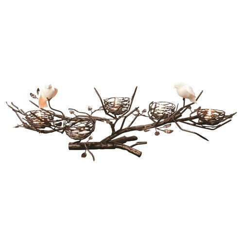 Dekorasyon Gifts & Decor 5-Nest Centerpiece with Fine Bone China Birds
