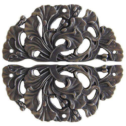 "Notting Hill Florid Leaves 2.5"" H x 1.25"" W Floral Hinge Plate"