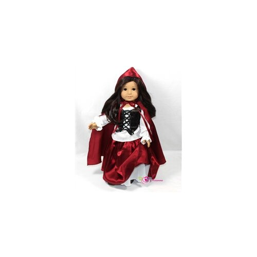 "Arianna Riding Hood 4 Piece Doll Outfit Set for 18"" American Girl Doll"