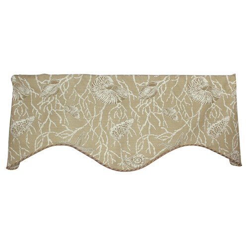 "RLF Home Sea Shells 50"" Curtain Valance"