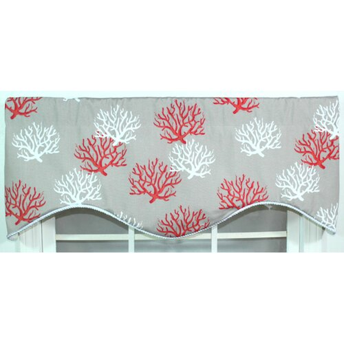"RLF Home Sea Coral 50"" Curtain Valance"
