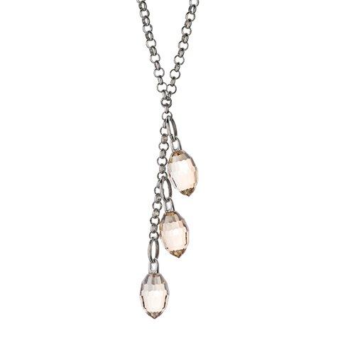 Cristal De Glace Chain Three-Crystal Pendant