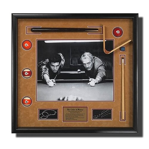 Legendary Art 'The Color of Money' Memorabilia Shadow Box