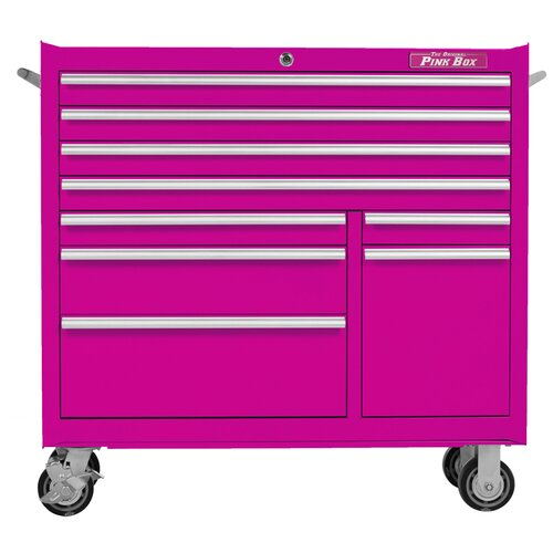 "The Original Pink Box 41"" Wide 9 Drawer Bottom Cabinet"