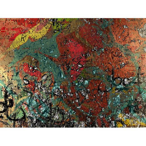 Carlyle Fine Art Abstract Alaphabet Soup by Jordan Carlyle Graphic Art