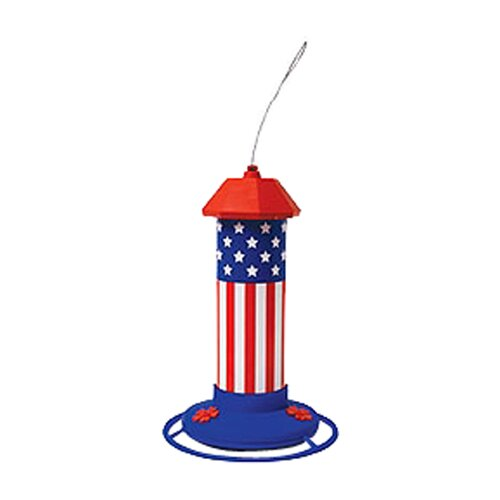 Pet Zone American Flag Hummingbird Bird Feeder
