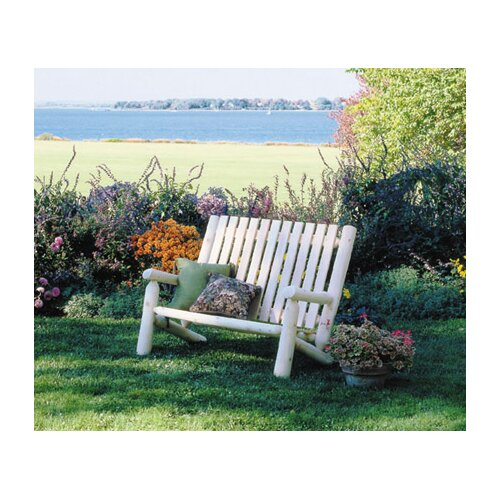 Rustic Natural Cedar Furniture High Back Wood Garden Bench