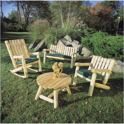 Rustic Natural Cedar Furniture High Back Indoor / Outdoor Rocking Chair