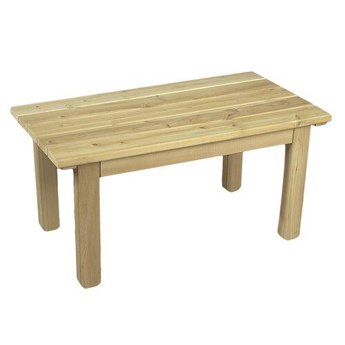 Rustic Natural Cedar Furniture English Garden Coffee Table