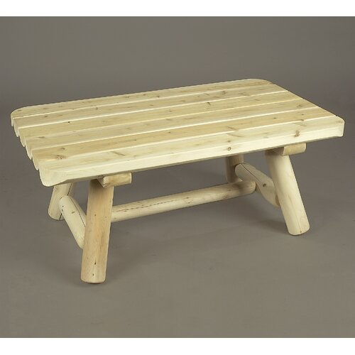 Rustic Cedar Rectangular Coffee Table Reviews Wayfair