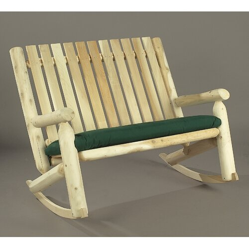 Rustic Natural Cedar Furniture Indoor / Outdoor Double Rocking Chair