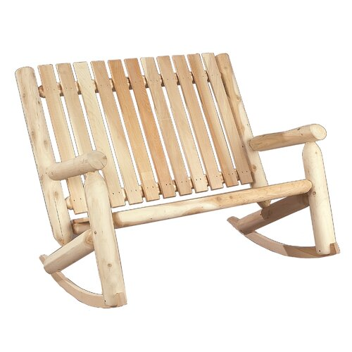 Rustic Cedar Indoor Outdoor Double Rocking Chair
