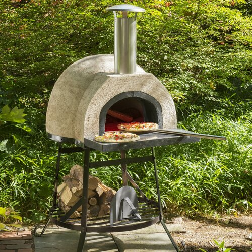 Rustic Natural Cedar Furniture Plain Front Wood Fired Oven