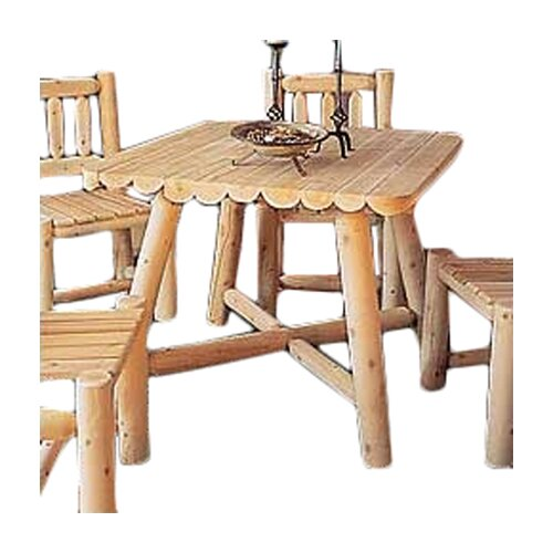 Rustic Cedar Large Square Dining Table Reviews Wayfair