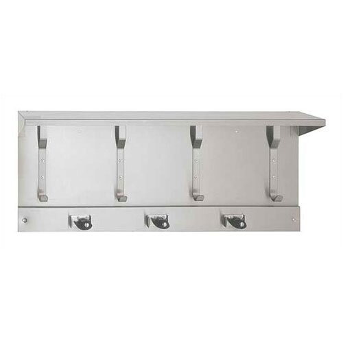 Utility Hook Strip with Shelf and Mop Holders