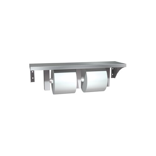 American Specialties Stainless Steel Shelf and Double Toilet Paper Holder