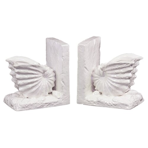 Urban Trends Ceramic Sea Shell Bookend