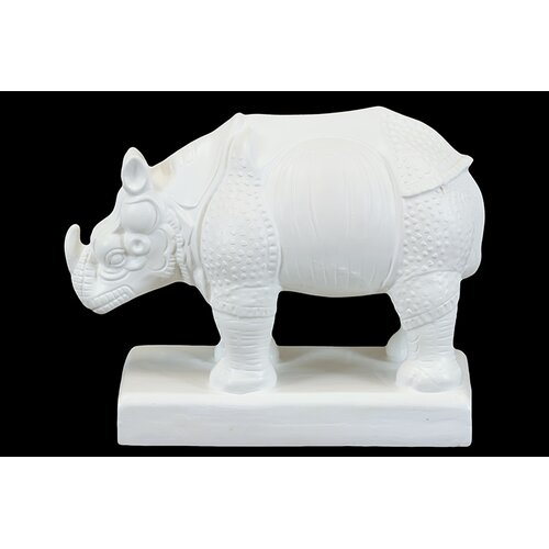 Urban Trends Ceramic Rhino Statue