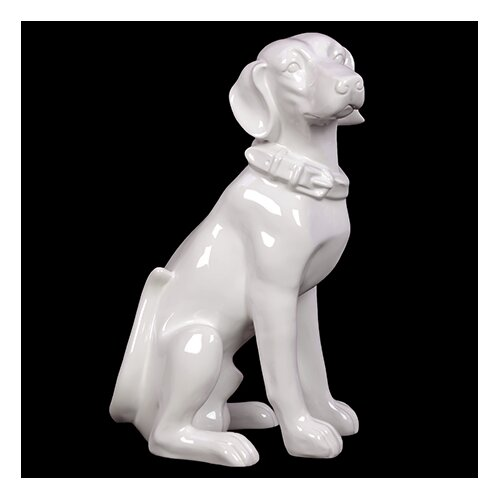 Ceramic Sitting Dog Statue