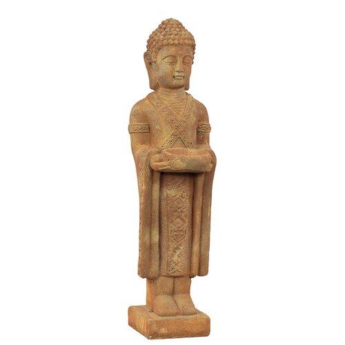 Stoneware Standing Buddha Rust