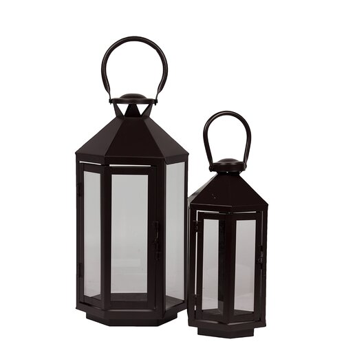 Urban Trends Metal Lantern Set of Two