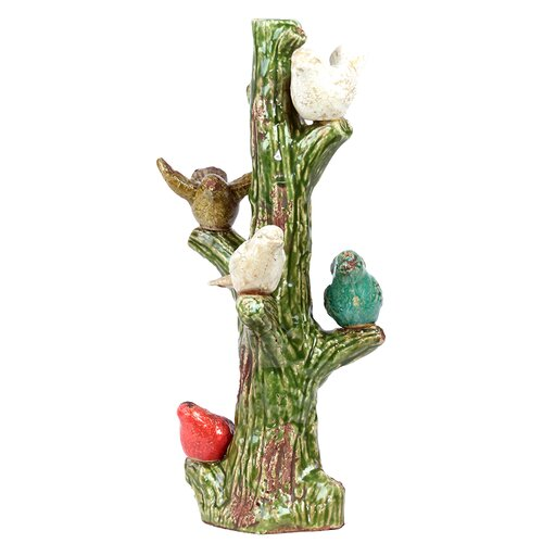 Urban Trends Ceramic Birds On Tree