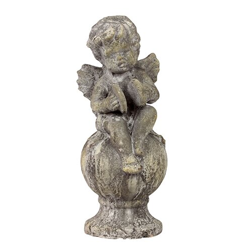 Stoneware Sitting Cupid Finish