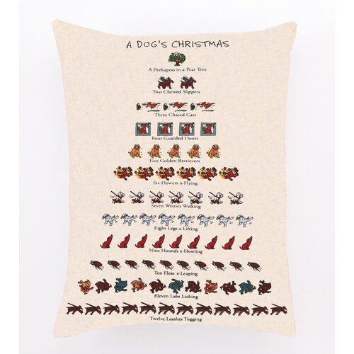 Dog's Christmas Decorative Cotton Pillow