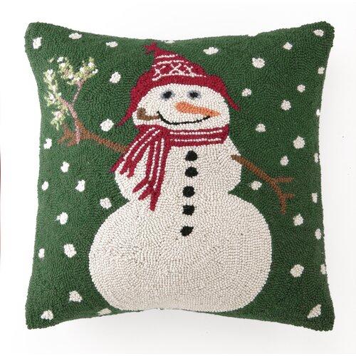 Peking Handicraft Snowman with Mistletoe Hook Pillow