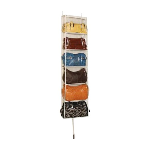 Richards Homewares Accessory Over the Door 6 Shelf Handbag Organizer