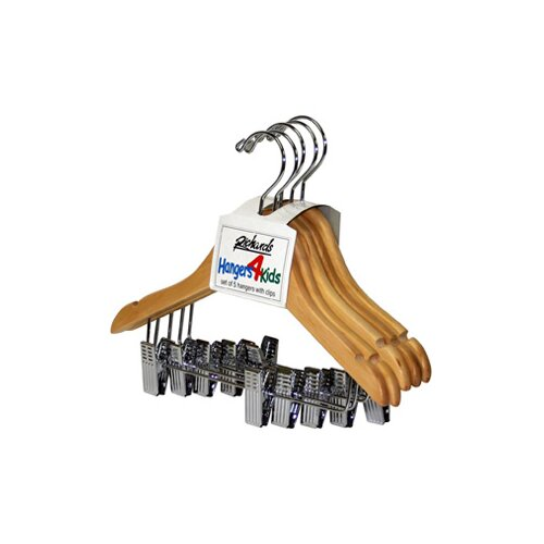 Richards Homewares Wood Children's Clips Hanger