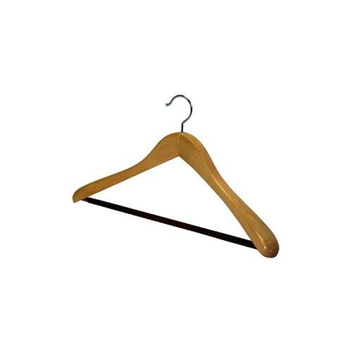 Richards Homewares Wood Deluxe Oversized Nonslip Bar Suit Hanger