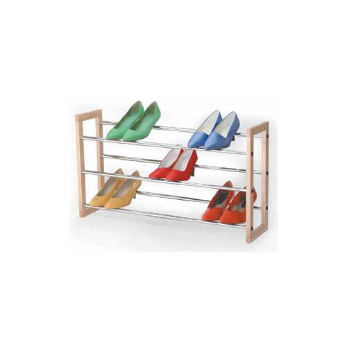 Richards Homewares 3 Tier Chrome Expandable Shoe Rack